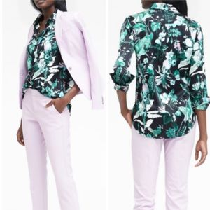 NEW Banana Republic Botanical Print Dillon Shirt